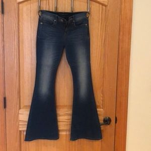 Gently worn Express bell bottom jeans
